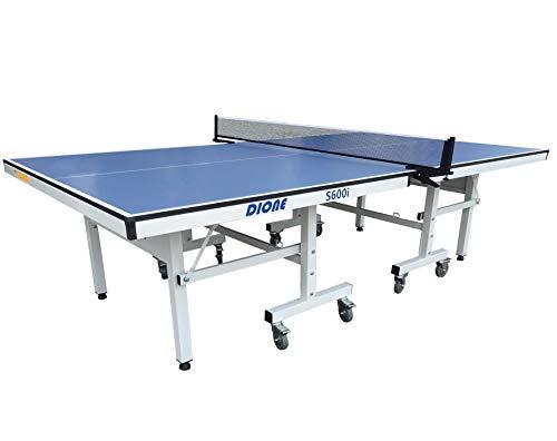 Dione Tischtennisplatte School Sport 600 kompakt Indoor Blau TT-Platte rollbarer und klappbar Tischtennistisch...