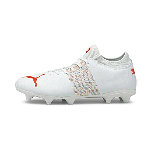 PUMA Unisex Future Z 4.1 Fg/Ag Sneaker, White Red Blast, 42EU