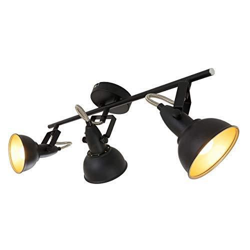 Briloner Leuchten Deckenleuchte, Deckenlampe mit 3 dreh-und schwenkbaren Spots im Retro/Vintage Design,...
