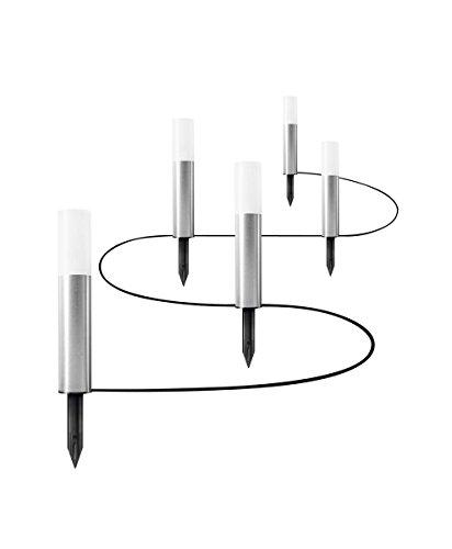 Osram LED Endura Garden Pole Mini Garten-Leuchtenkette, für Außenanwendungen, Warmweiß, 5 Pylonen, Höhe:...