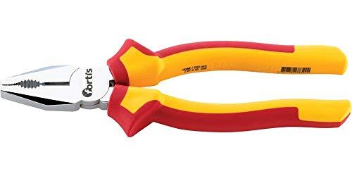 fortis 600038241 Werkzeug Kombizange VDE-180 mm, rot/gelb
