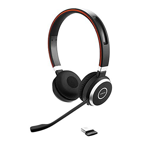 Jabra Evolve 65 Wireless Stereo On-Ear Headset - Microsoft zertifizierte Kopfhörer mit langer Akkulaufzeit -...