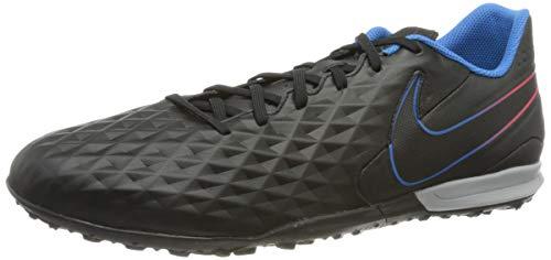 Nike Herren Tiempo Legend 8 Academy Tf Football Shoe, Black Black Siren Red Light Photo Blue Cyber, 44.5 EU