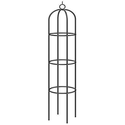 Deuba Rosensäule Rosenbogen Rankgitter Obelisk Rankhilfe 200 x 40cm pulverbeschichtetes Metall...