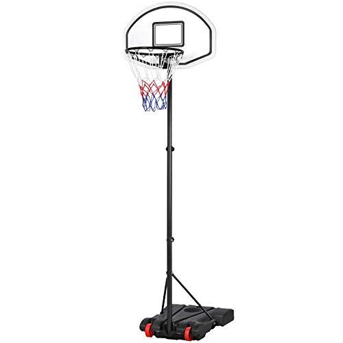 Yaheetech Basketballständer Basketballkorb mit Ständer Outdoor Tragbar Korbanlage Basketballanlage...