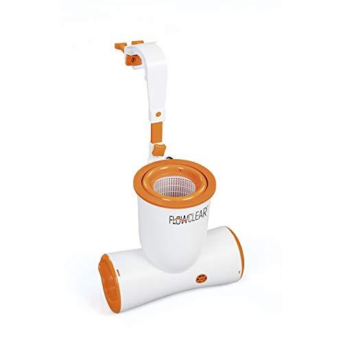 Bestway Flowclear Skimatic, 2-in-1 Filterpumpe und Einhängeskimmer 3.974 l/h für Gartenpools, schlauchlose...