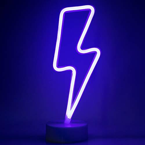 ZWOOS Neonlicht für Schlafzimmer - LED Leuchtschilder angetrieben von Batterie oder USB - Neonschild für...