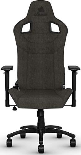 Corsair T3 Rush, Polyester Stoff Gaming Büro Stuhl (Atmungsaktivem Weichen Stoff, Gepolsterten Nackenkissen,...