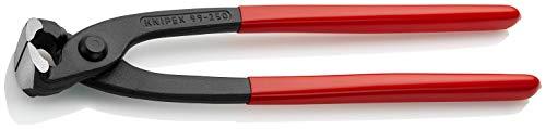 KNIPEX 99 01 250 Monierzange (Rabitz- oder Flechterzange) schwarz atramentiert mit Kunststoff überzogen 250...