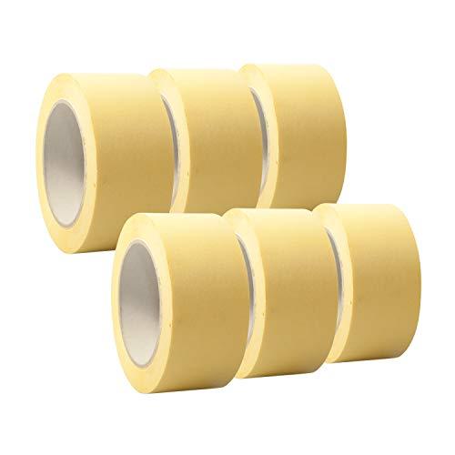 6 Rollen 'Premium' Malerkrepp/Abklebeband/Kreppband,19-75mm, Abmessungen:50mm x 50m