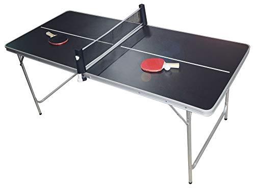 PingPong-Classics Klappbare Tischtennisplatte, HBT: 180 x80 x76 cm, tragbar inklusive Netz, 2 Schläger,...