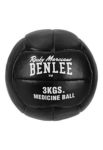 BENLEE Rocky Marciano Unisex – Erwachsene PAVELEY Artificial Leather Medicine Ball, Black, 5kg