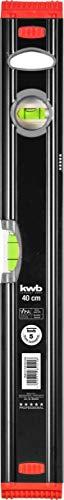 kwb Aluminium-Wasserwaage 40 cm, stoßfeste Libelle, 0,5 mm / m Genauigkeit, VPA-Geprüft, hoch präzise...