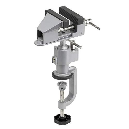 Meister Schraubstock Mini - 50 mm Spannweite - 360° drehbar - Sicheres Fixieren von Werkstücken - Inkl....