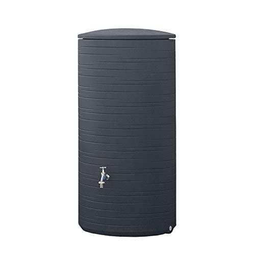 Regentonne anthrazit Regenwassertank Novara 285 Liter aus UV- und witterungsbeständigem Material. Regenfass...