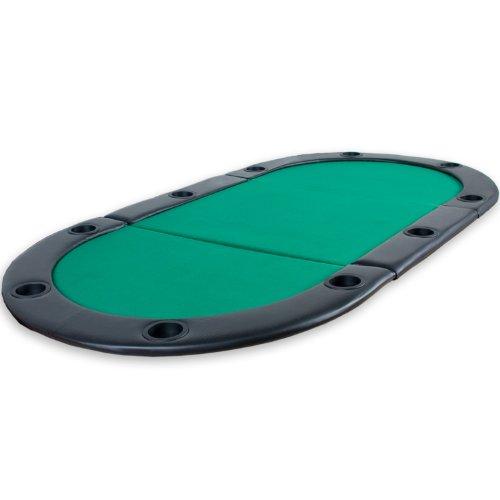 """Maxstore Faltbare Pokerauflage """"Straight Flush"""" mit Tasche, 208x106x3 cm, MDF Platte, gepolsterte..."""