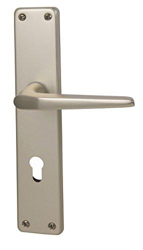 Alpertec 40364080PO Aluminium Türbeschlag Tanja II-LS Langschildgarnitur für Wohnungseingangstüren in...