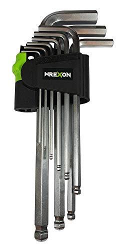 Innensechskantschlüssel Set mit Kugelkopf-Wrexon-Professioneller Schlüsselset mit gummiertem,...
