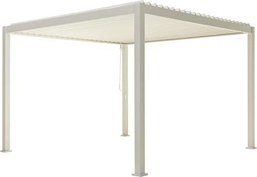 SORARA Mirador Deluxe Pavillon 3 x 3 m Wasserdicht - Pergola mit Lamellendach - Aluminium...