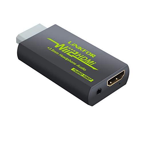 Wii HDMI Konverter LiNKFOR 1080p Wii zu HDMI und 3,5mm Audioausgang Unterstützung ETC NTSC PAL Wii-Eingang...