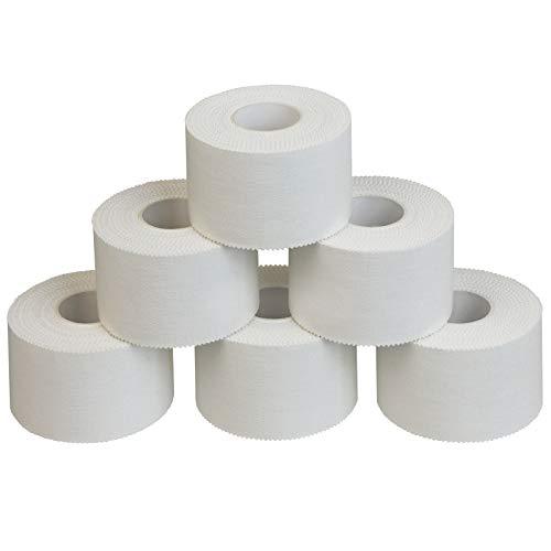 ALPIDEX 6 Rollen Sport Tape Set 3,8 cm x 10 m Tapeverband weiß