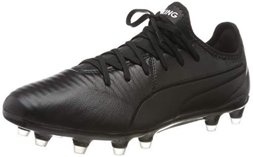 PUMA Unisex-Erwachsene King Pro FG Botas de fútbol, Schwarz Black White, 45 EU