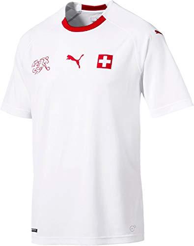 PUMA Erwachsene Suisse Away Shirt Replica White Red, L