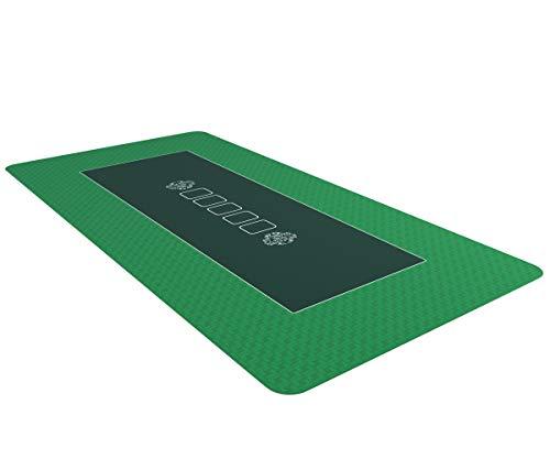 Bullets Playing Cards Profi Pokermatte grün in 160 x 80cm eigenen Pokertisch - Deluxe Pokertuch...