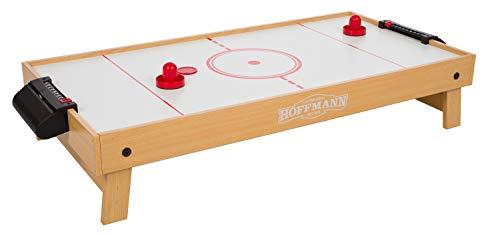 Automaten Hoffmann Airhockey-Tischauflage | Mobiles Airhockey-Tischspiel, Tabletop mit Gebläse | Einklappbar,...
