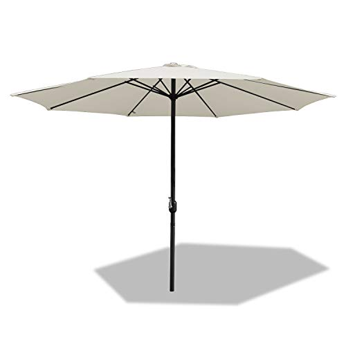 BMOT 350cm Sonnenschirm im Freien Wasserabweisende Bespannung -Gartenschirm Marktschirm