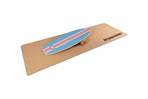 BoarderKING Indoorboard SURF - Skateboard Surfboard Trickboard Balanceboard Balance Board (100 mm (Kork))...