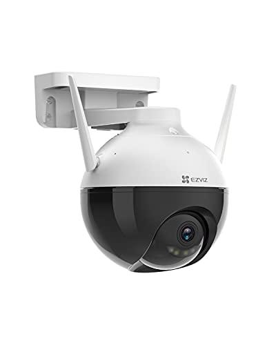 EZVIZ Überwachungskamera, 1080p WLAN IP PT Kamera mit KI-Personenerkennung, 30 Meter Farbnachtsicht, FHD...