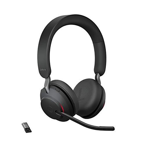 Jabra Evolve2 65 Wireless Headset – Noise Cancelling UC Zertifizierte Stereo Kopfhörer mit langer...