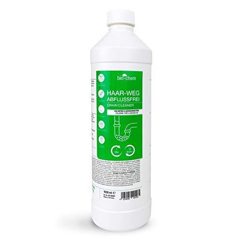 bio-chem Haar-weg Abflussfrei – Flüssiger Abflussreiniger, Rohrreiniger – Extrem effektive Formel gegen...
