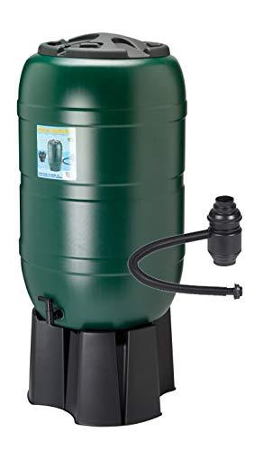 Kreher Regensammler Wassertonne für 210 Liter mit Standfuß, Füllautomat (Befüllsystem) und einem...
