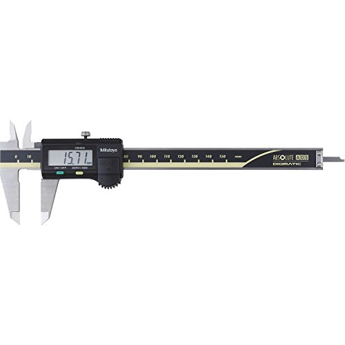 MITUTOYO Digital Messschieber ohne Datenausgang DIN 862, Tiefenmaß flach 0-150 mm, 1 Stück,500-181-30