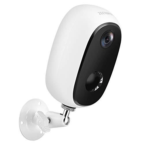 Zeetopin Überwachungskamera Aussen Akku,1080P Kabellose Outdoor WLAN IP...