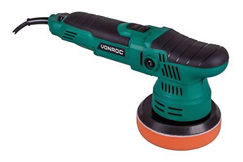VONROC Exzenter-Poliermaschine 650W - Ø125mm - Sanftanlauf - Konstante Leistung - Inkl. Zubehör
