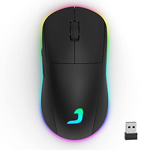 Jelly Comb Kabellose Gaming Mouse, Programmierbare Wireless Gaming-Maus, RGB Beleuchtung, 10000 DPI Optisch...