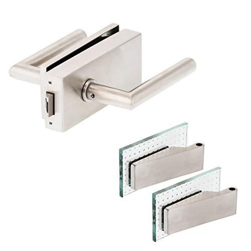 Glastürbeschlag'Q' Set UV | Edelstahl matt | inkl. Studiobändern | metallische Innenmechanik | New Orleans