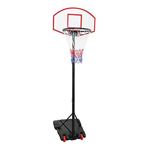 Display4top Einstellbare Portable tragbar Basketballkorb und Ständer System (179-209 cm)
