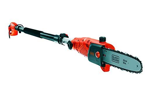 Black+Decker Hochentaster (800W, 25 cm Schwertlänge, 2,7 m Länge, 11 m/s Kettengeschwindigkeit, schwenkbarer...