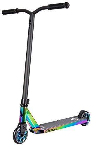 Chilli Rocky Scooter Grind - 360 - neochrome| Erstklassiger Stunt-Scooter | Robuster Roller, drehbarer Lenker...
