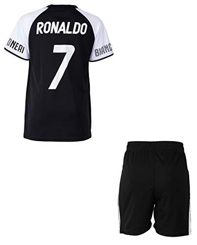 Trikot + Shorts Juventus – Cristiano Ronaldo – Offizielle Kollektion Juventus 8 Jahre Schwarz