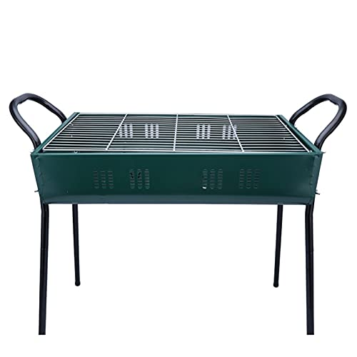 Grill Edelstahl Tragbare Holzkohlegrill BBQ Camping Grill Großer Reisegrill für Camping, Picknick,...