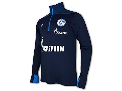 UMBRO FC Schalke 04 Fußball Training Top blau S04 Fussball Jersey Trikot Knappen, Größe:M