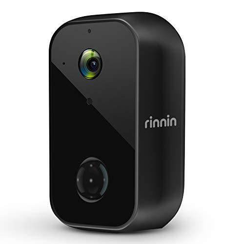 Überwachungskamera Aussen Akku WLAN IP Kamera, Rinnin 1080P Kabellose Outdoor Batteriebetrieben Wasserdicht...