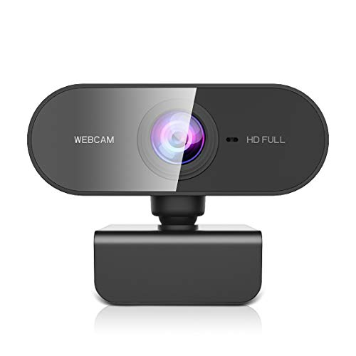 NIYPS Webcam mit Mikrofon, Full HD 1080P Streaming Webcam für PC, Laptop, Mac, Plug-and-Play Webcam USB mit...