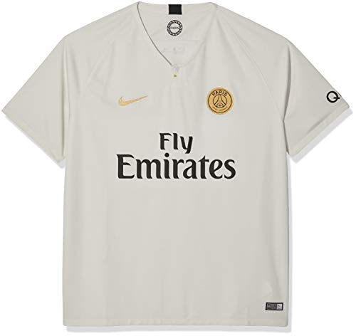 Nike Herren Auswärtstrikot Paris St.-Germain Stadium 2018/2019, Light Bone/Truly Gold, L - 48/50, 919011-073