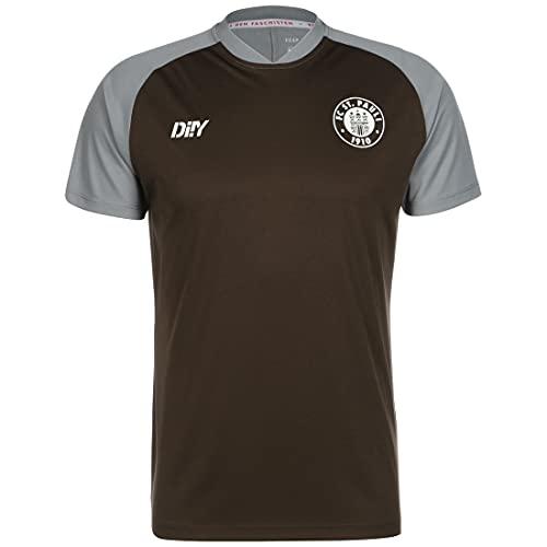 FC St. Pauli Team Trainingsshirt braun/grau, XL